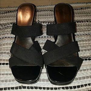 Calvin Klein black wedge sandals ♥️